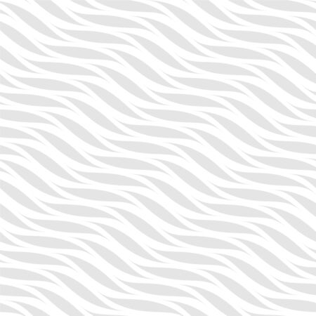 Vector seamless wavy elegant pattern. Weave striped gray and white texture. Abstract minimalistic background.