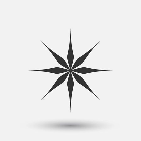 Vector creative icon - snowflake decorative element, geometric design. Round winter sign.