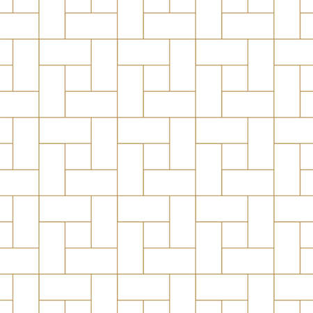 Vector seamless geometric outline simple pattern. Thin grid linear texture. Abstract minimalistic repeatable background. Vektorgrafik