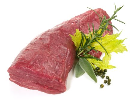 Raw Beef Fillet on white Background