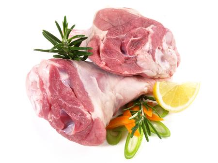 Prepared Lamb Shanks Stock Photo