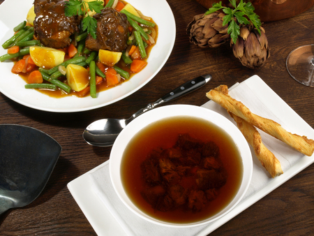 Oxtail Soup - Appetizer with Oxtail Main Course