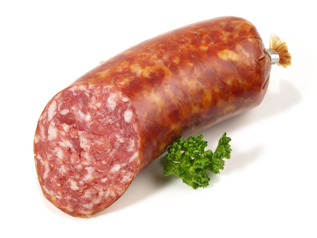 Smoked Minced Pork Sausage 스톡 콘텐츠