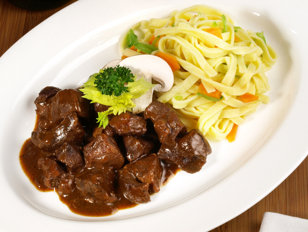 Wild Boar Ragout with Noodles