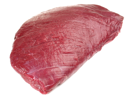 Ostrich Meat - Wild Game Meat on white Background