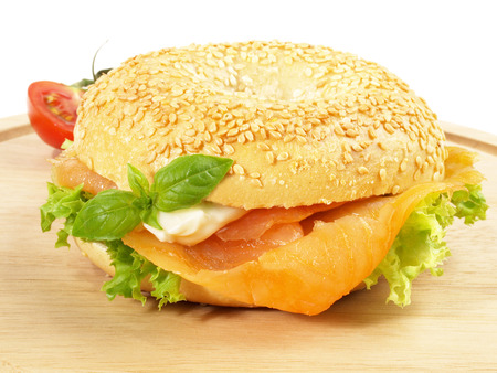 Smoked Salmon - Fish Bagel