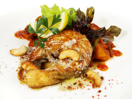 Cod Fish Chop on Tomato
