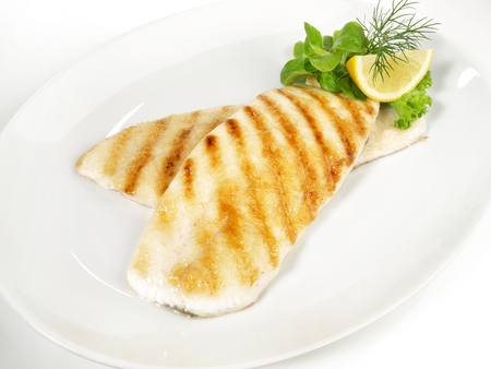 Grilled Plaice Fish Fillet