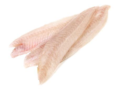Sole Fillet - Flatfish on white Background
