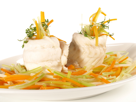 Sole Fillet Rolls - Flatfish on white Background