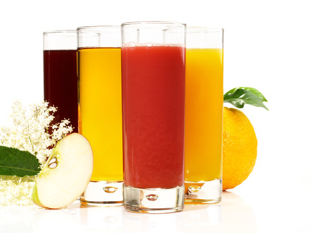Fresh Juice on white Background