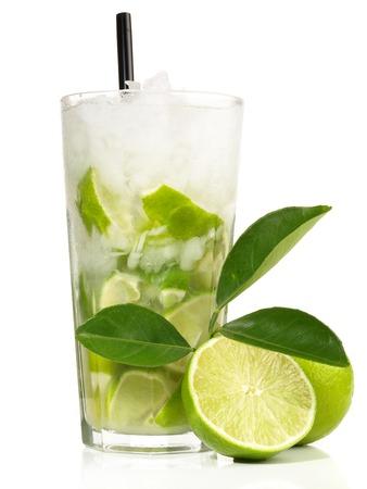 Caipirinha Cocktail on white Background