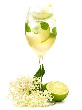 Hugo Cocktail on white Background