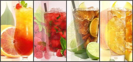 Various Cocktail Panorama Standard-Bild