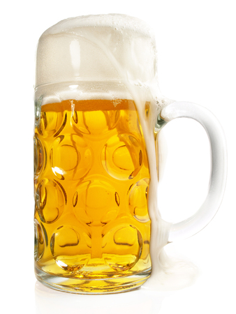 Bavarian Beer on white Background