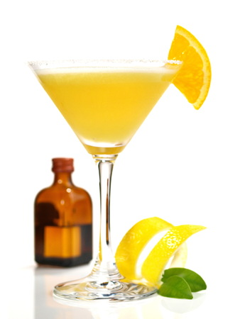 Sidecar Cocktail on white Background