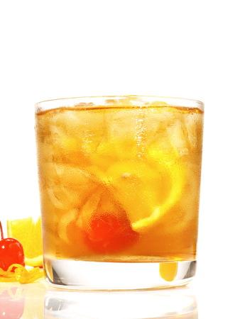 Od Fashioned Cocktail on white Background Standard-Bild