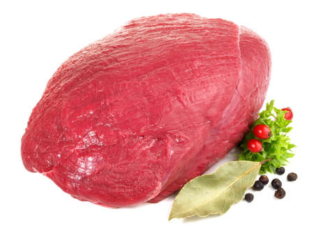 Deer Haunch - Wild Game Meat on white background