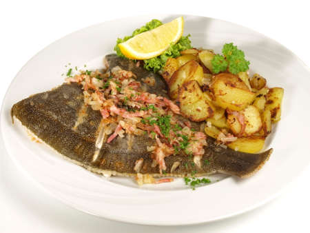 Grilld plaice with potatoes