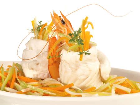 Sole Fillet Rolls - Flatfish on white background