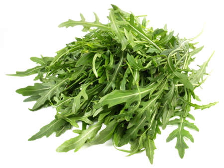 Arugula salad isolated on white background Zdjęcie Seryjne