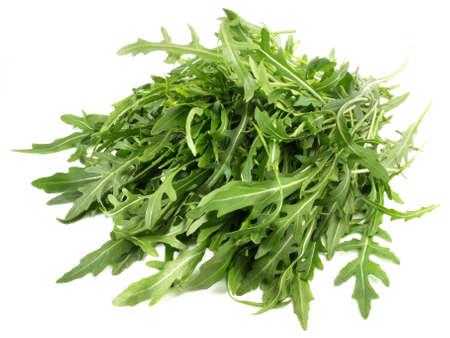Arugula salad isolated on white background Stock Photo