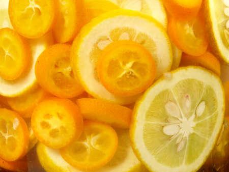 Bitter Orange Kumquat in Alcohol - Background