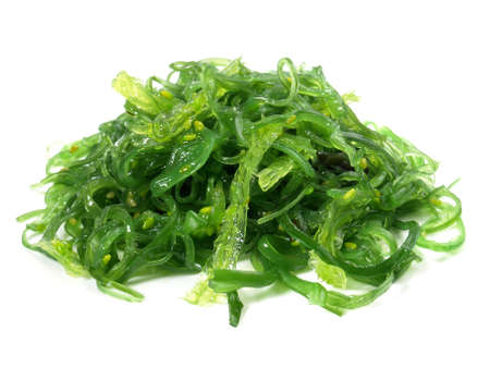 Seaweed Salad - Healthy Nutrition Isolated on White Background