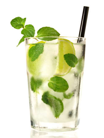 Mojito Cocktail Isolated on White Background 版權商用圖片 - 168232554