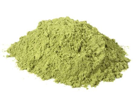 Moringa powder isolated on white background 版權商用圖片