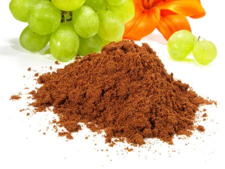 OPC grape powder isolated on white background 版權商用圖片