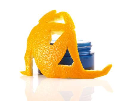 Orange Peel Skin - White Background Isolated