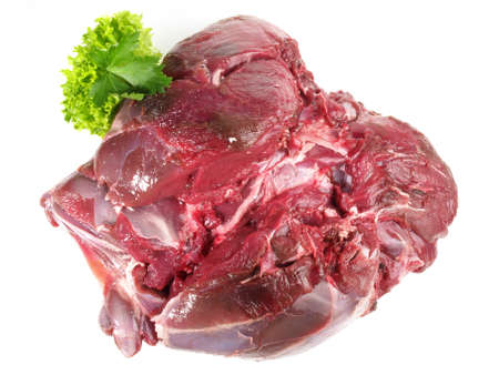 Roe Deer - Wild Game Meat Isolated on White Background 版權商用圖片