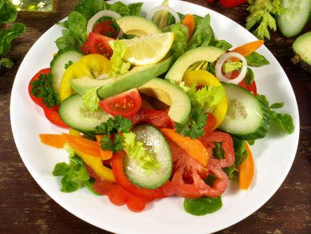 Salad Nicoise with avocado