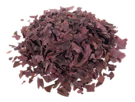 Dried Red Seaweed isolated on white background