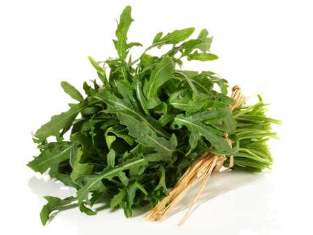 Arugula Salad Isolated on White