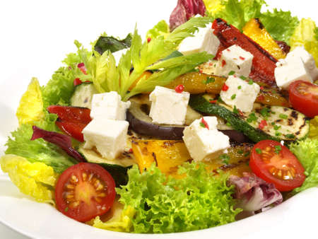 Mixed Salad with grilled Vegtables and Feta Cheese