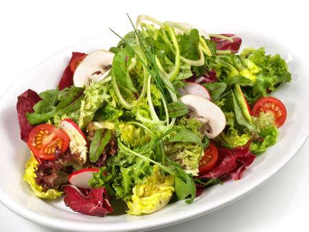 Colorful Mixed Salad with Mushrooms 版權商用圖片 - 168232637