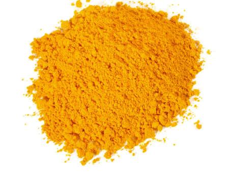 Vitamin B powder isolated on white