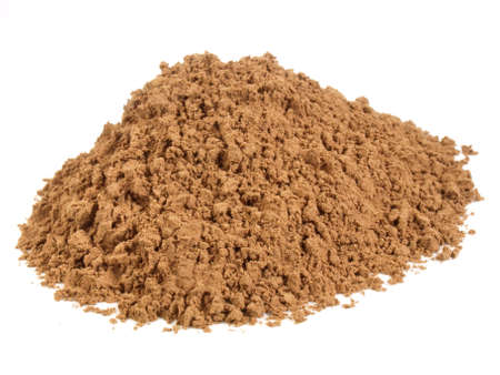Fine grape seed powder isolated on white
