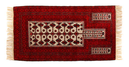 Old Persian Carpet Panorama isolated on white