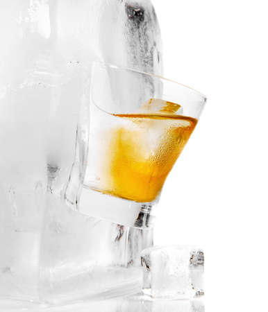 Whiskey on the Rocks Glass Ice Cube