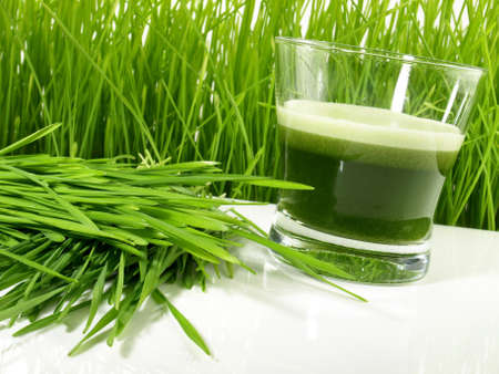 Wheatgrass Juice - Healthy Nutrition Isolated
