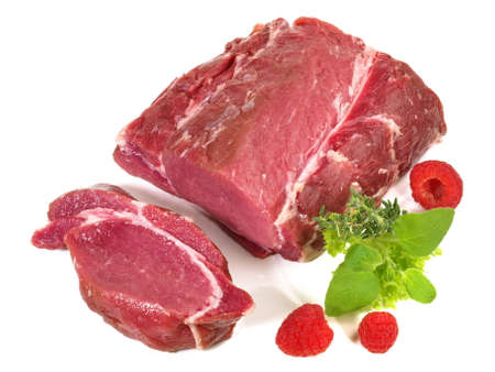 Wild Boar - Wild Game Meat isolated on white