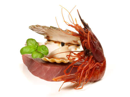Prawn - Shrimp Carabinero Isolated on White Background