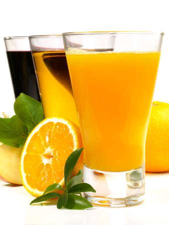 Fresh Juice on white background - Isolated.