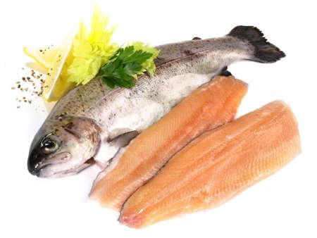 Fresh Fish - Trout Fillet Isolated 版權商用圖片