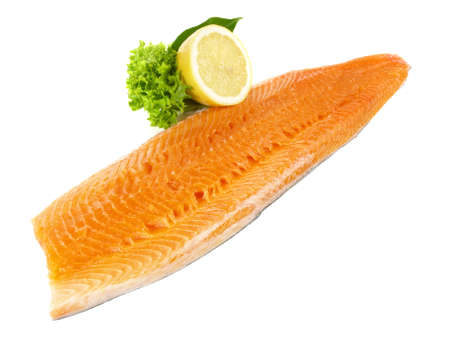 Salmon Trout - Fish Fillet Isolated on White Background