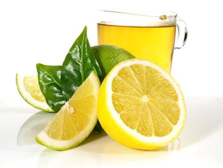 Hot Lemon on white background - Isolated.