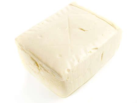 Classic Silken Tofu on white background - Isolated
